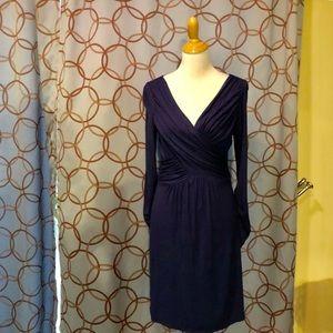Max Studio Blue Long Sleeve Dress Size Medium